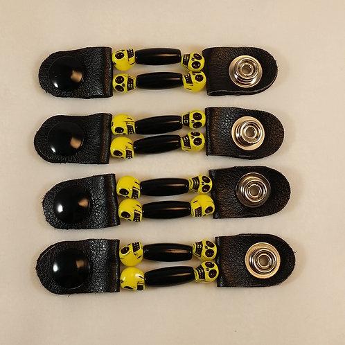 skull vest extender, motorcycle accessories, snap extender, motorcycle gifts,leather vest, beaded vest extender, women vest