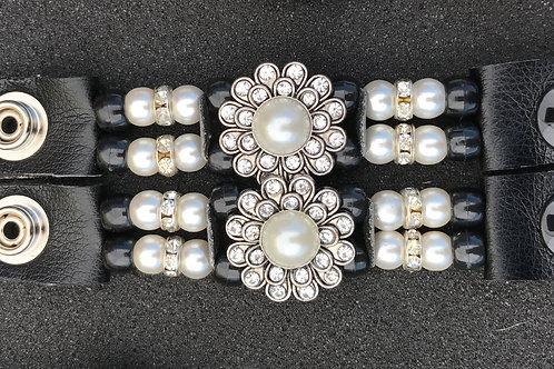 vest extender, motorcycle accessories, snap extender, motorcycle gifts,leather vest, women vest, blingy pearl extender