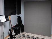 Chambre d'enregistrement du studio.