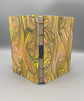 Large Sketchbook French Link Coptic stitch with color pages