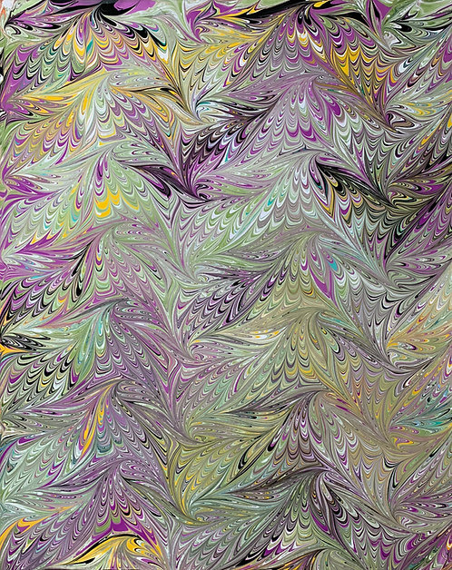 """Marbled paper on sheet 17"""" x 22"""""""