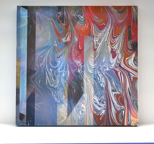 Marbled Painting - Artist Christopher Hoot