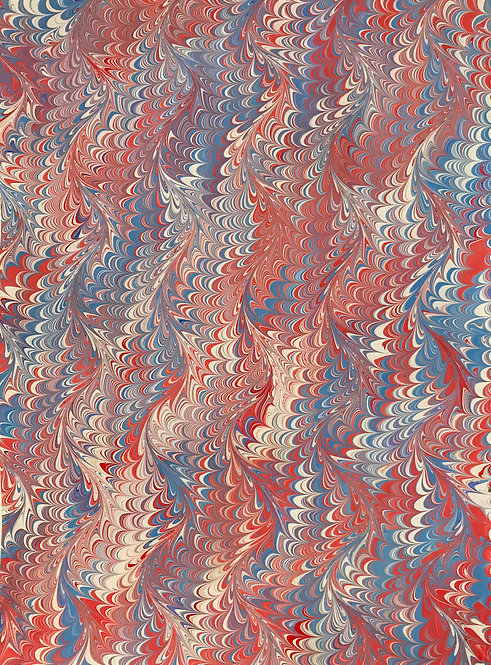 "Marbled paper on sheet 17"" x 22"""