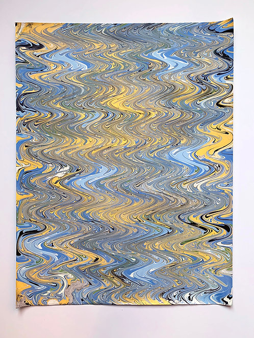 "Marbled paper on 80lb sheet 18"" x 24"""