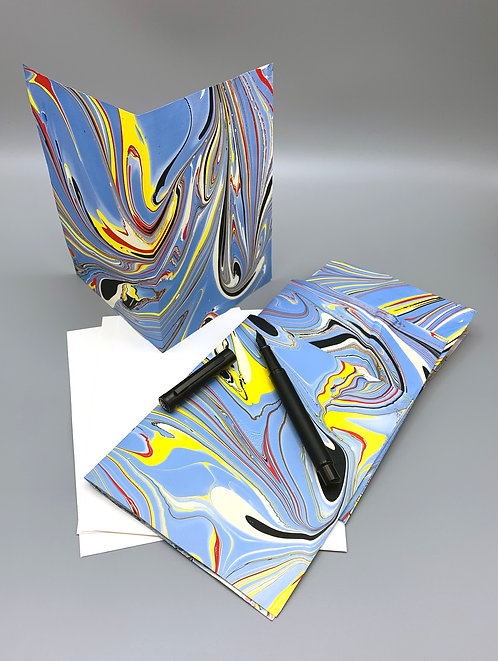 """4 pack marbled blank cards 5"""" x 7"""""""