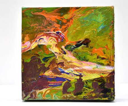"""Pastoral"" Marbled Painting"