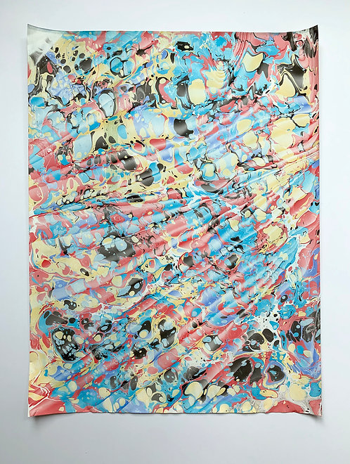 """Marbled paper on 80lb sheet 18"""" x 24"""""""