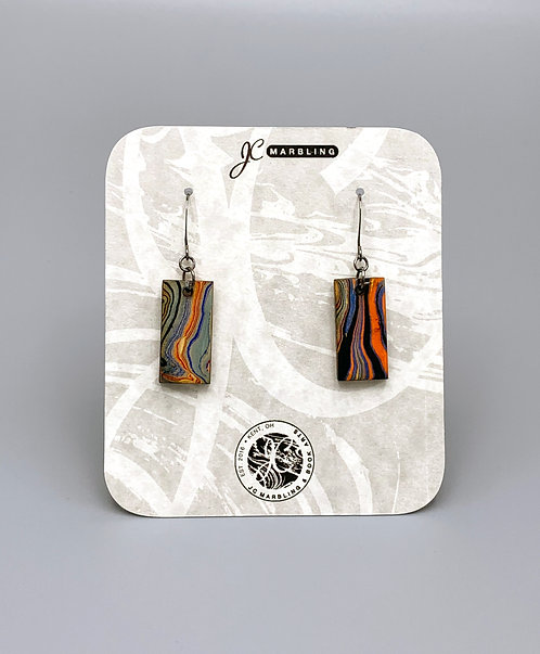 Marbled Wood Earring Set