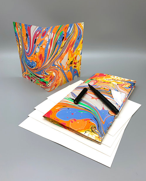 "4 pack marbled blank cards 5"" x 7"""