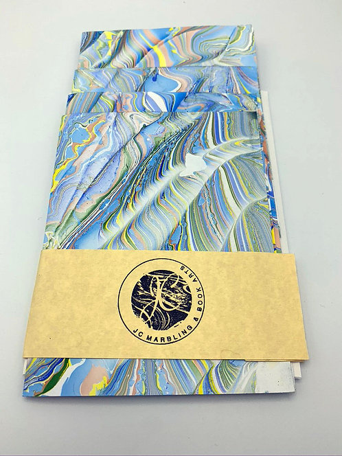 4 pack marbled blank cards