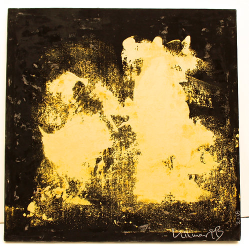 """#3  SOLD """"GOLD MOVEMENT ON BLACK 1""""    48 x 48x1,5"""