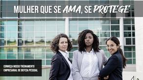 """Mulher que se ama, se protege"": projeto leva treinamento de autodefesa às empresas"