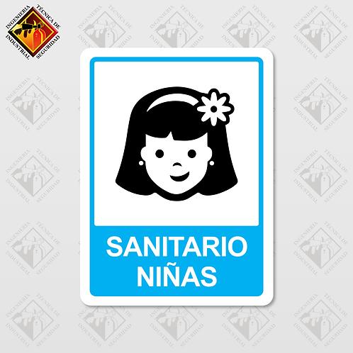 """Señal de """"SANITARIO NIÑAS"""""""
