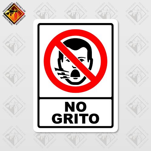 """Señal de """"NO GRITO"""""""