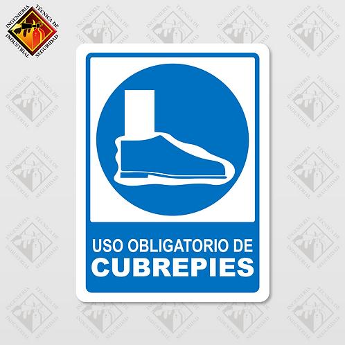"""Señal de """"OBLIGATORIO CUBREPIES"""""""