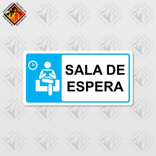 "Señal de ""SALA DE ESPERA"""
