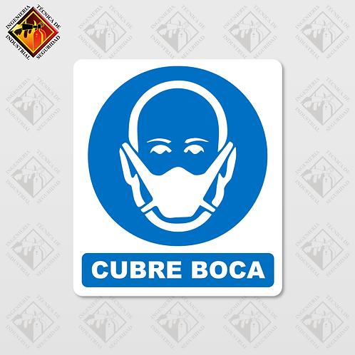 """Señal de """"CUBRE BOCA"""""""