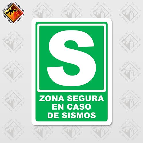 """Señal de """"ZONA SEGURA EN CASO DE SISMOS"""""""