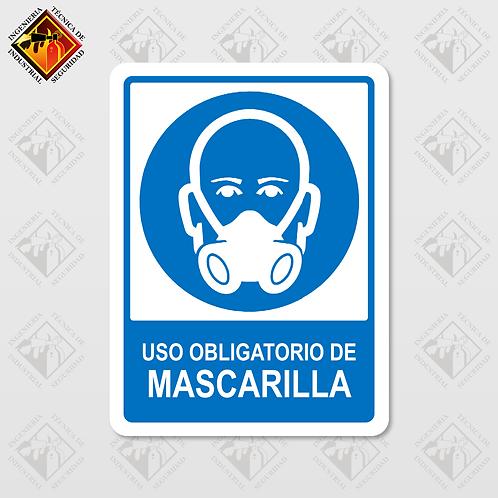 """Señal de """"OBLIGATORIO MASCARILLA"""""""