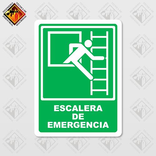 """Señal de """"ESCALERA DE EMERGENCIA"""""""