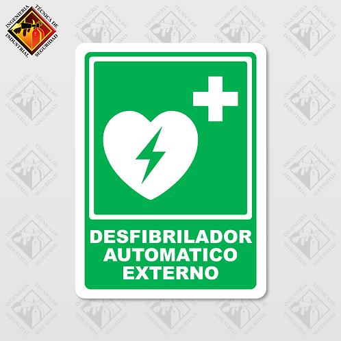 """Señal de """"DESFIBRILADOR AUTOMATICO"""""""