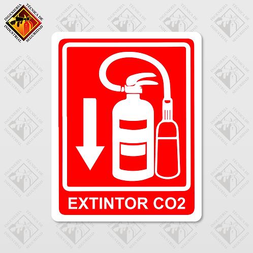 """Señal de """"EXTINTOR CO2"""""""