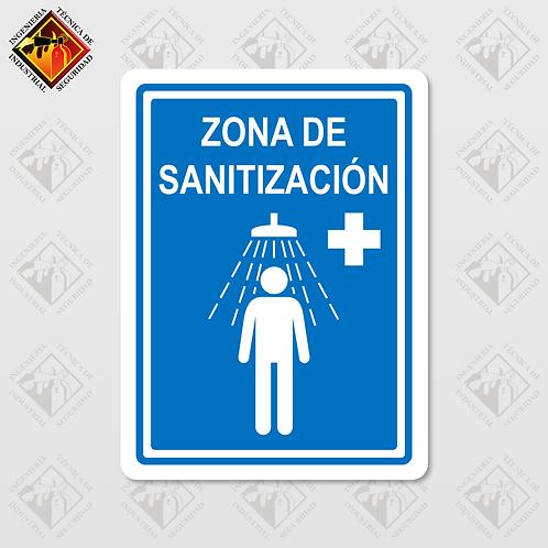 """Señal de """"ZONA DE SANITIZACIÓN"""""""