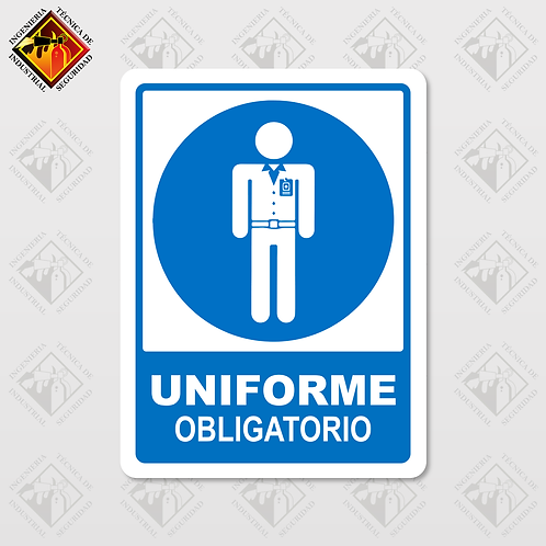 "Señal de ""UNIFORME OBLIGATORIO"""