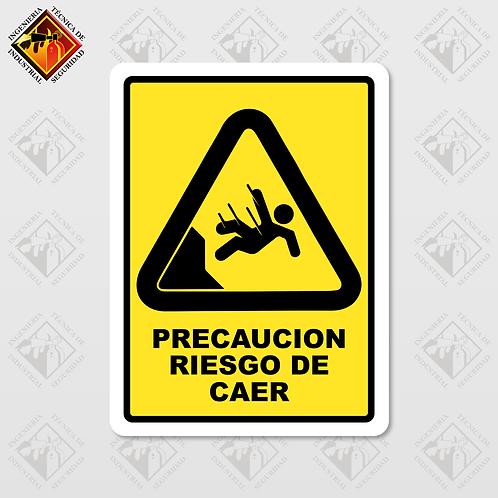 """Señal de """"PELIGRO DE CAER"""""""