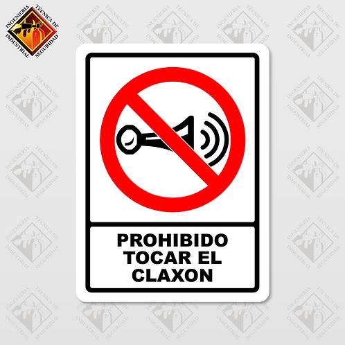 """Señal de """"PROHIBIDO TOCAR EL CLAXON"""""""