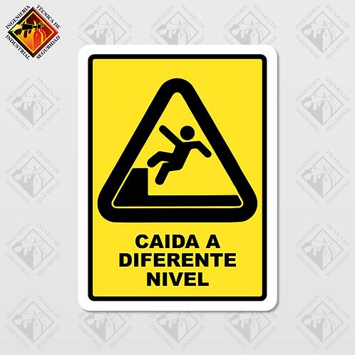 """Señal de """"CAIDA A DIFERENTE NIVEL"""""""