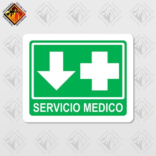"""Señal de """"SERVICIO MEDICO"""""""