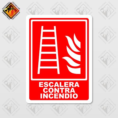 """Señal de """"ESCALERA CONTRA INCENDIO"""""""