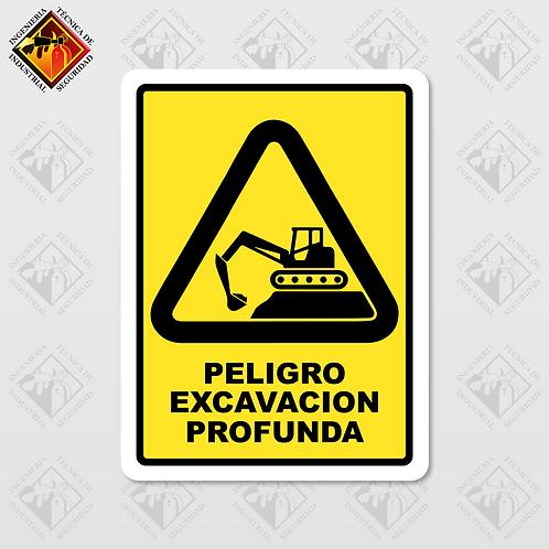 """Señal de """"EXCAVACIÓN PROFUNDA"""""""