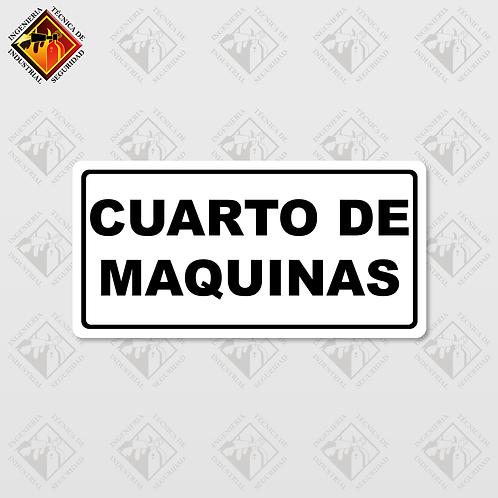 """Señal de """"CUARTO DE MAQUINAS"""""""