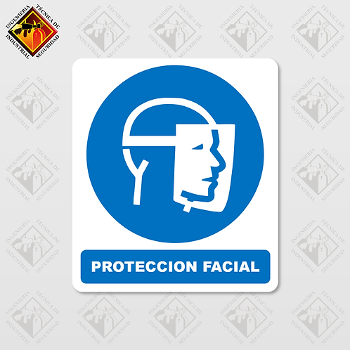 "Señal de ""PROTECCIÓN FACIAL"""