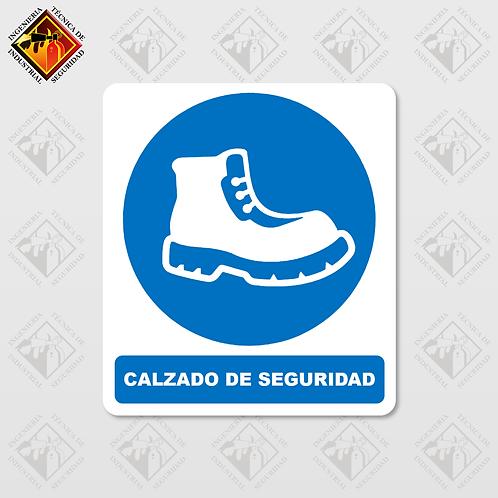 """Señal de """"CALZADO DE SEGURIDAD"""""""