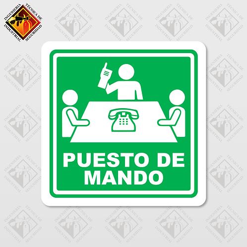 """Señal de """"PUESTO DE MANDO"""""""