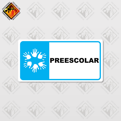 """Señal de """"PREESCOLAR"""""""