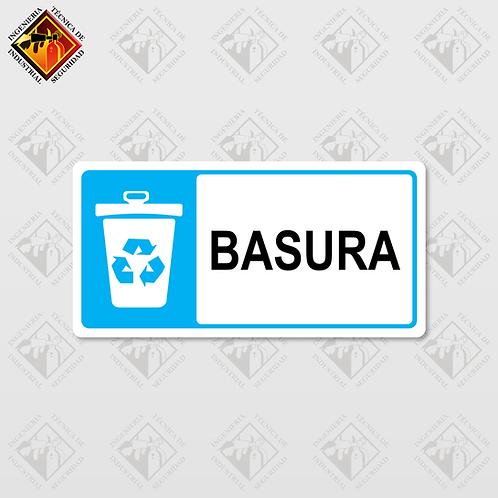 "Señal de ""BASURA"""