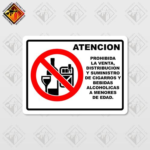 """Señal de """"ATENCIÓN / PROHIBIDO CONSUMIR ALCOHOL"""""""