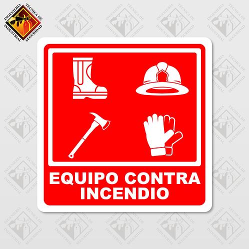 """Señal de """"EQUIPO CONTRA INCENDIO"""""""