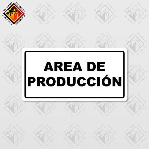 """Señal de """"AREA DE PRODUCCIÓN"""""""