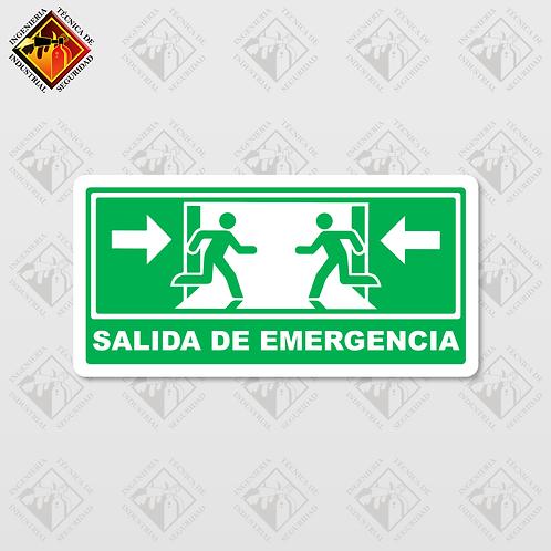 """Señal de """"SALIDA DE EMERGENCIA"""""""