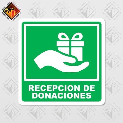 """Señal de """"RECEPCIÓN DE DONACIONES"""""""