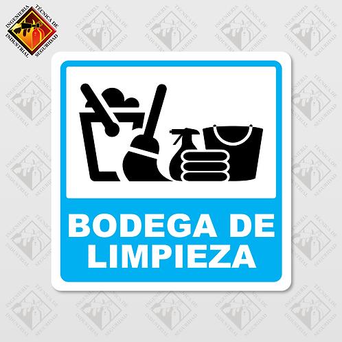 """Señal de """"BODEGA DE LIMPIEZA"""""""