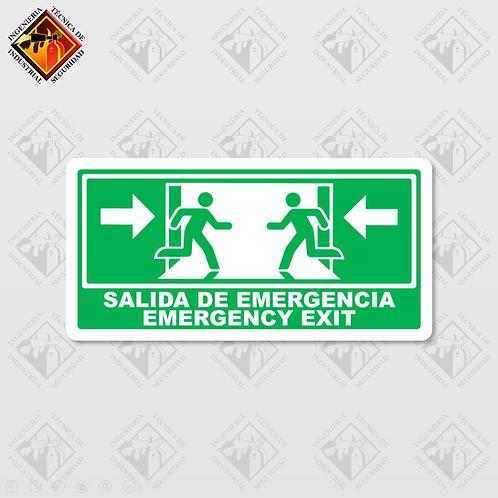 """Señal de """"EMERGENCY EXIT"""""""