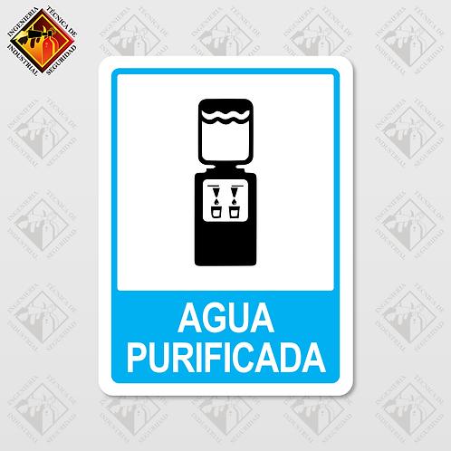 """Señal de """"AGUA PURIFICADA"""""""