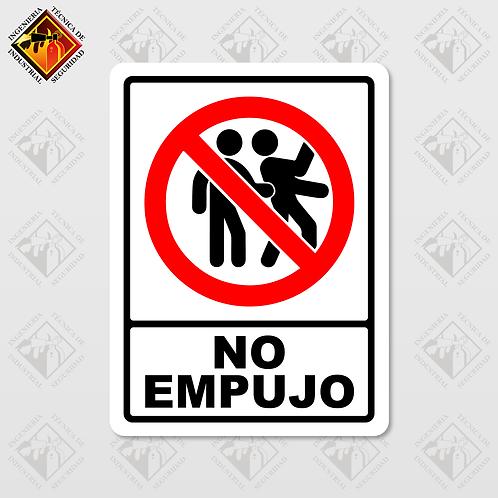 """Señal de """"NO EMPUJO"""""""