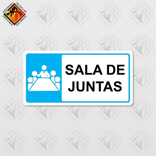 """Señal de """"SALA DE JUNTAS"""""""
